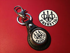 BERETTA SPORTING GUNS:  LEATHER KEY RING  &  FREE BERETTA    STICKER