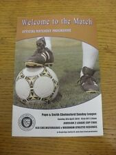 06/04/2014 Chelmsford sunday league division 2 finale de coupe: old chelmsfordians v w