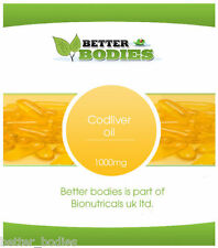 High Strength Cod Liver Oil 1000mg - 1000 Capsules Bulk Bag Better Bodies