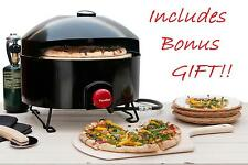 Pizzacraft PizzaQue Portable Propane Outdoor Gas Stone Pizza Oven *NEW*  + GIFT!