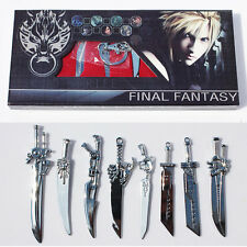 8PC Final Fantasy VII 7 Cloud Strife Sword Weapon Collection Box Set Anime FFVII