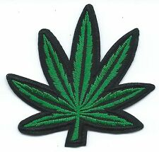 Marijuana Leaf Embroidered Patch Iron-on Good Luck Magic Charm