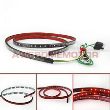 "60""Red White Trunk Tail LED Strip Light Bar Reverse Brake Turn Signal Running AM"