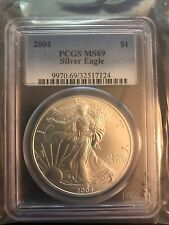 2004 PCGS MS69 Silver Eagle $1 (Spotted, Very Small)