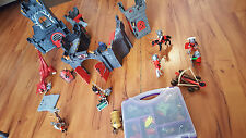 Playmobil Red Wolf Castle, Knights & Viking Take Along Large Set with EXTRAS!