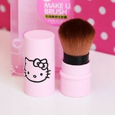 Hello Kitty Pink Cosmetic Makeup Powder Brush with Lid 1pcs