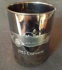 1953 Corvette Glass Tumbler Cup vette collector cup etched