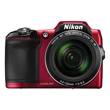 Nikon Coolpix L840 16 MP Digital Camera 38x Optical Zoom Red Full-HD WiFi/ NFC