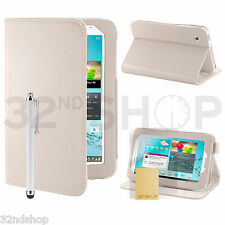 NEW Stand PU Leather Case Cover For Samsung Galaxy Tab 2 7.0 P3100 Screen Film