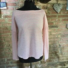 Collection WEEKEND by John Lewis Pink/White Stripe Top,  size 12