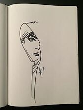 Adam Hughes GHOST Original Comic Sketch SIGNED Dragon Con 98 Marvel Wonder Woman