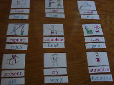 Montessori Homeschool SYNONYMS Match Card Language Arts Word Study Material