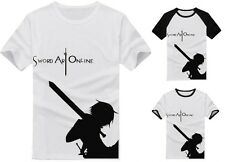 Anime Sword Art Online Kirito Clothing Costume T-shirt S,M,L,XL,XXL#A