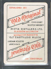"Playing Swap Cards 1 VINT WIDE BRITISH ""OLD ORIGINAL""  SCOTCH WHISKY ADVT D154"