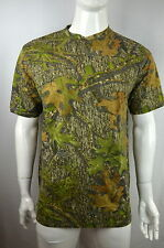 NEW Henley Hunting Camo tee Men's L T-shirt S/S Mossy Oak Obsession NEW NWOT