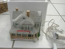Village Building Lighted Lemax Derby Square Inn house buiness
