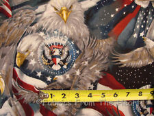 Patriots American Flag Eagles Patriotic BY YARDS Robert Kaufman Cotton Fabric