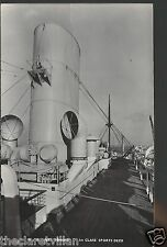 P&O Strathmore  1st class Sports Deck Old Unposted Real Photograph