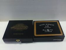 TWO (2) WOOD CIGAR BOXES (EMPTY): ROCKY PATEL A-10 & SANCHO PANZA DOUBLE MADURO