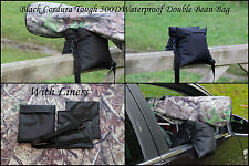 Waterproof Double FILLED Black Camera Bean Bag Cordura 500D PU Coated & S-Strap