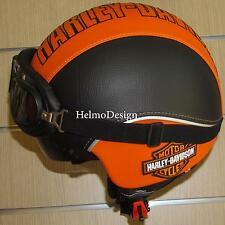Casco Harley Davidson visiera interna scomparsa personalizza in pelle Bar Shield