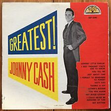 Johnny Cash – Greatest!-Traditional Country-Country Rock Vinyl LP-Sun Label-1959