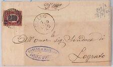 Brescia --- ITALIA REGNO:  storia postale - BUSTA: Mairano / Dello  1872