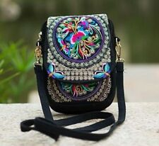 NEW Boho Vintage Style Embroidered Canvas Shoulder Bag