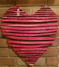 "NEW - RUSTIC Heart-pallet Wreath WALL HANGING DECOR - 15""w x 16""t"