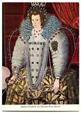 Queen Elizabeth I Oil Painting in Parham Park Portrait Photo Postcard