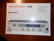 Grundig V30 Original Instruction manual