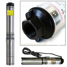 200FT 1HP Deep Well Pump Submersible 33GPM Stainless Steel Underwater Bore HD