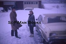 KODACHROME 35mm Slide Pretty Woman Handsome Man Lots Of Snowstorm Old Cars 1966!