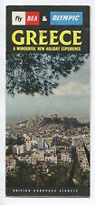 BEA & OLYMPIC GREECE BROCHURE WITH COMET 4B PICTURE BRITISH EUROPEAN AIRWAYS