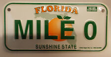 Mini Aluminum Mile 0 Bicycle Collectable License Plate Sign Florida Key West
