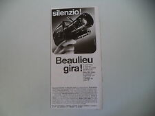 advertising Pubblicità 1967 CINEPRESA BEAULIEU SUPER 8