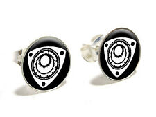 Rotary Rotor Engine RX-8 RX-7 Novelty Silver Plated Stud Earrings