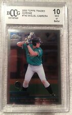 2000 Topps Traded CHROME Miguel Cabrera Graded BCCG 10 HOF Triple Crown GEM?
