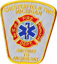 Chesterfield TWP. Fire Dept. Michigan MI Firefighter Patch NEW