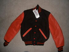 NWT DeLong Letterman Jacket Cleveland Browns Colors Youth Large Dog Pound  BABY