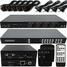 4x4 HDMI Matrix Interrupteur HDBaseT Lite Kit 3D 4K IR Routage Distribution