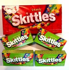 8 SKITTLES x 45 gr .(360 gr) 4 FRUITS + CRAZY SOURS NEW & SEALED BOXES