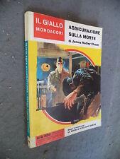 GIALLO MONDADORI #  769 - JAMES HADLEY CHASE - ASSICURAZIONE SULLA MORTE