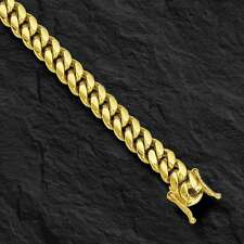 "18k Solid Yellow gold Miami Cuban Curb Link mens bracelet 8.5"" 38 grams 8MM"