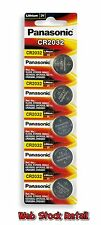 Pack of 5 Original Panasonic CR2032 Original Lithium Coin Cell Battery +Vat Bill
