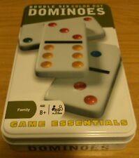 Cardinal Double Six Color Dot Dominoes Game Essentials 8+ Table Games Metal Tin