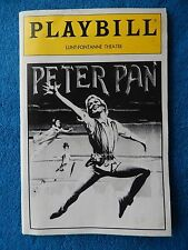 Peter Pan - Lunt-Fontanne Theatre Playbill w/Ticket - November 3rd, 1981 - Rigby