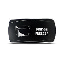 CH4x4 Rocker Switch Frigde Freezer Symbol  -  Horizontal - White LED