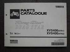 JDM YAMAHA DRAGSTAR 400 XVS400 4TR 1 2 Original Genuine Parts Catalog XVS