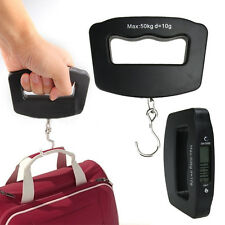 Mini Hand Held Luggage Weight Hook Scale 50kg/10g LCD Digital Fish Hanging